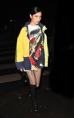 """ Bella Hadid arriving at a TommyxGigi after party in Paris, France  """
