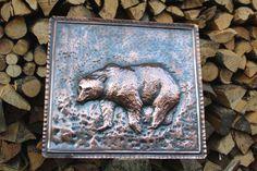 Bear painting handmade copper (179.00 EUR) by LaCasadelRame