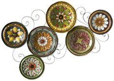 Mediterranean Plates Wall Sculpture - Wall Sculptures - Wall Decor - Home Decor | HomeDecorators.com