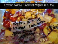 Freezer Cooking :: Crockpot Veggies in a Bag  http://www.stockpilingmoms.com/2012/11/freezer-cooking-crockpot-veggies-in-a-bag/