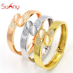 Sunny Jewelry Fashion Jewelry 2017 Cuff Bracelets Bangles For Women High Quality Exquisite Jewelry Zircon For Party Wedding Gift