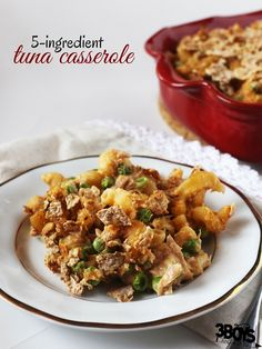 Tuna Casserole 5 Ingredients Recipe - great for Lent!