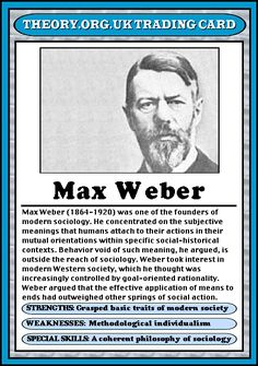 Max Weber (1864 – 1920) [follow this link to find a short clip on Weber's notion of the iron cage]