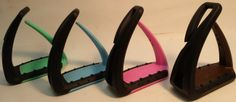 Freejump Safety Stirrups for Kids and Young Riders under 130 lbs - Available in Pink, Yellow, Orange, Green, Blue, Chocolate