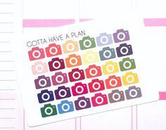 Mini Camera Icon Planner Stickers for Erin Condren, Happy Planner, Filofax, Scrapbooking