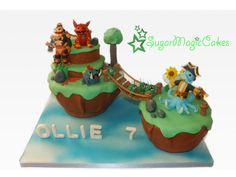 This is my youngest son Ollies 7th birthday cake. HAPPY BIRTHDAY OLLIE! He is mad about skylanders and adored this cake, his favourite chocolate orange cake layered with choc orange ganache, Yum! Ive always made portal of power cakes, so decided...