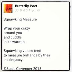 Squawking Measure ~ ©Susie Clevenger 2013