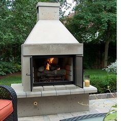Mirage Stone Open Face Outdoor Gas Fireplace with Gas Logs and Burner Outdoor Fireplace Kits, Fireplace Tool Set, Backyard Fireplace, Fireplace Hearth, Outdoor Fireplaces, Stone Fireplaces, Stone Mantel, Rustic Mantel, Pergola Plans