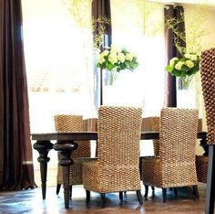 I love these woven chairs. They remind me of the Kaya chairs from World Market I've been eyeing for a while.