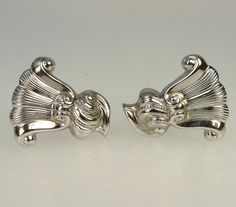 Vintage Wallace Sterling Silver Cufflinks Romance Of by jujubee1