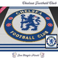 Chelsea Football Club C2C Crochet Graph   Craftsy