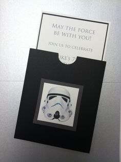 Star Wars Themed 7th Birthday Party Invitations