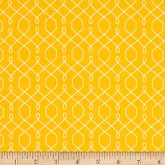 Michael Miller Emma's Garden Lovely Lattice Yellow from @fabricdotcom  Designed by Patty Sloniger for Michael Miller, this cotton print is perfect for quilting, apparel and home decor accents.  Colors include yellow and white.