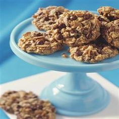 Chocolate Coffee Toffee Oatmeal Cookies. Homemade oatmeal cookies with a twist - fresh brewed coffee, creamy chocolate chips, buttery toffee bits and broken sugar cone pieces