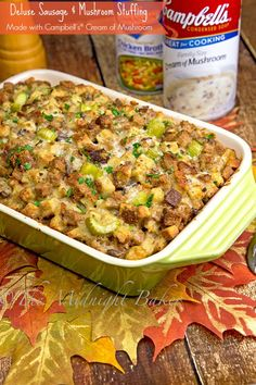 Stuffing Casserole, Casserole Recipes, Sausage Stuffing, Crockpot Stuffing, Campbells Soup Recipes, Thanksgiving Menu, Turkey Stuffing Recipes Thanksgiving, Clean Eating Snacks, Food Dishes
