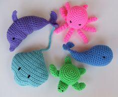 Thursday Handmade Love Week 68 Theme: Octopus Includes links to #free #crochet patterns  Amigurumi Crochet Pattern, Beach Toys Digital Download via Etsy