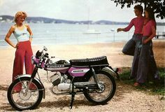 Yeah! The 70s. A 1975 Zundapp KS50 Super Sport surrounded by people in outrageous Lionels!