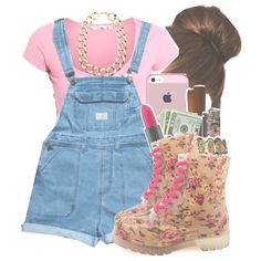 """""""Wear pink"""" .. Came up thats All Me, Stayed true thats All Me. No help thats All Me . All Me Foreaal ., created by twerkinwitray on Polyvore"""