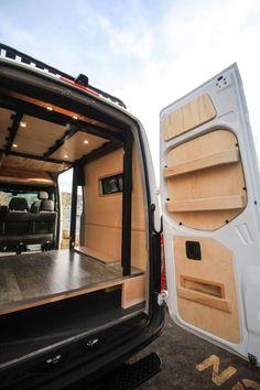 Van Conversion Ford Transit, Van Conversion Interior, Camper Van Conversion Diy, Camper Beds, Diy Camper, Vintage Campers Trailers, Camper Trailers, Camper Caravan, Build A Camper Van