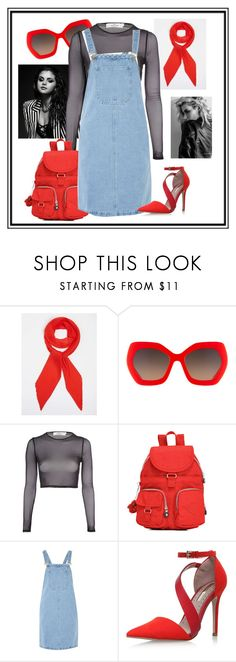 """""""Rockin Red"""" by makaylaxcalvert ❤ liked on Polyvore featuring Dorothy Perkins, Alice + Olivia, Oh My Love, Kipling, Glamorous and Miss KG"""
