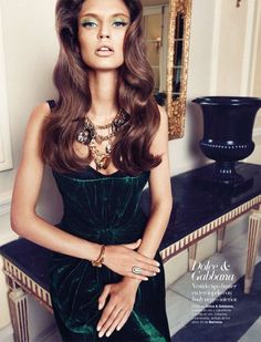 Bianca Balti for Harper's Bazaar Spain, September 2010 #fashion #editorial   Shot by Txema Yeste