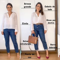 Photo by Poder do Estilo in Brasília, Brazil with and L'image contient peut-être : une personne ou plus, chaussures et texte Casual Work Outfits, Office Outfits, Work Casual, Classy Outfits, Casual Chic, Casual Looks, Cool Outfits, Fashion Pants, Fashion Outfits