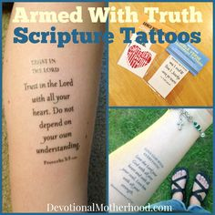 Scripture Tattoos: Armed with Truth || DevotionalMotherhood.com