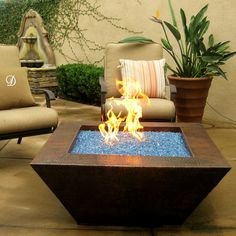 """Fire Glass 40"""" Grand Corinthian NG Fire Pit Auto Ignition - Copper   WoodlandDirect.com: Outdoor Fireplaces, Outdoor Fire Pits, Copper Fire Pits, Automatic Fire Pits"""