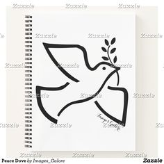 Peace Dove Notebook Peace Dove, Notebook Covers, Page Design, Line Art, Make It Yourself, Classic, How To Make, Image, Collection