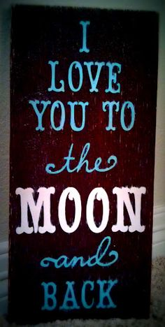 I love you to the moon and back wooden sign. Bedroom wall #decor