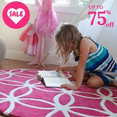Love is in the air!  Beautiful children's rugs up to 75% off! Sale ends February 18, 2018 or while stock lasts.