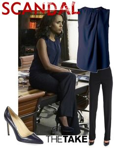 Olivia Pope wears this outfit  in Scandal Season 5. More at TheTake.com Olivia Pope Outfits, Olivia Pope Wardrobe, Olivia Pope Style, Work Wardrobe, Business Wear, Business Dresses, Business Outfits, Office Outfits, Scandal Fashion