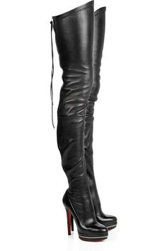 Women Leather Thigh high Boots,