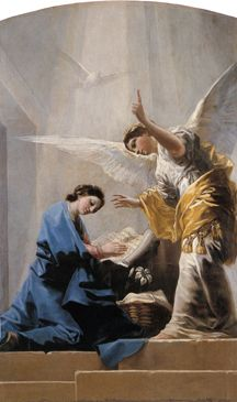 Annunciation, 1785 - Francisco de Goya -There are no words to describe the beauty of this painting. Blessed Mother Mary, Blessed Virgin Mary, Catholic Art, Religious Art, Mama Mary, Queen Of Heaven, Archangel Gabriel, Angels Among Us, Holy Mary