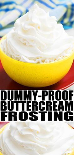 Classic, quick and easy American buttercream frosting recipe, requiring 4 ingredients. It holds its shape. Great for cake decorating and cupcake decorating! American Buttercream Frosting Recipe, Icing Recipe For Cake, Homemade Frosting Recipes, Vanilla Frosting Recipes, Homemade Cakes, Icing Frosting, Sugar Icing, Powdered Sugar, Great American Cookie Icing Recipe