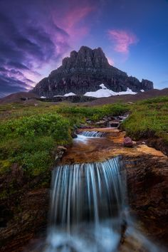 When the Storm Clears - Glacier National Park  by Joel Brady-Power