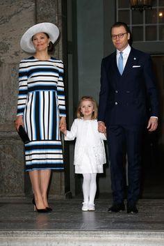 30 April 2016 - Birthday of King Carlo-Gustaf XVI of Sweden, Te Deum - dress by Dolce & Gabbana
