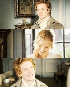 Jane Bennet: Yes. A thousand times yes. - Simon Woods (Mr. Charles Bingley) & Rosamund Pike (Jane Bennet) - Pride & Prejudice (2005) #janeausten #joewright #fanart