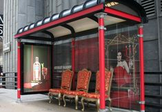 Absolut Bus Shelters: Red