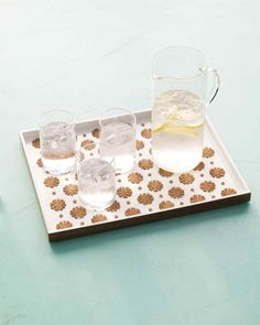 Punched-Cork Serving Tray