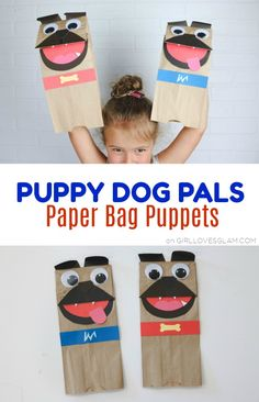 Craft Gifts For Father - Fantastic Present Strategies Puppy Dog Pals Paper Bag Puppets On Puppy Birthday Parties, Puppy Party, Dog Birthday, Birthday Presents, Birthday Ideas, Fun Crafts For Kids, Toddler Crafts, Diy For Kids, Craft Activities
