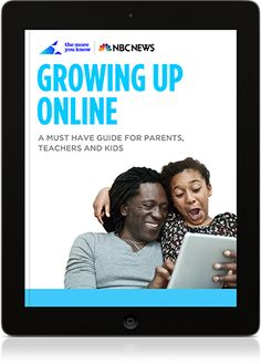 "Teaching internet safety in your library? check out the free eBook: Growing Up Online, from NBC News' themoreyouknow.com. Download or read online. The section for kids has 4 great video stories with Things to Remember and corresponding Teachable Moments in the parent/teacher section. I'm using ""Sooooo Grounded!!"" and ""You Win, You Lose!!"" With my 4th and 5th graders."