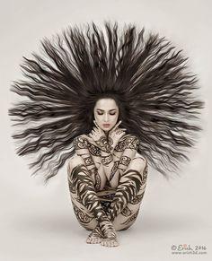 Hair with flair~ Alex Grey, Gifs, Hair With Flair, Gustav Jung, Just Magic, Animation, Wild Hair, Creative Hairstyles, Visionary Art