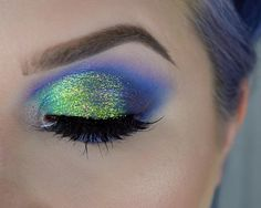 RAVE Had to give a close up on the glitter for the inner third of the eye I have #makeupgeek Pegasus and on the center I have Motown. The combination of the two shadows shows off the glitter beautifully glitter is lemon tart from @litcosmetics. Use code MYOPULENCE for 20% off your next order Don't forget I have a #litcosmetics Giveaway going on right now! Check my page for details face | @elciecosmetics micro silque foundation in porcelain. @anastasiabeverlyhills illuminator in starlig...