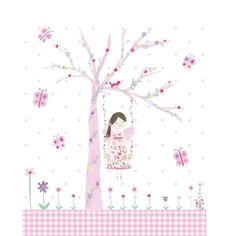 This Fairy Blossom LED Canvas is the perfect fairy gift! The pretty scene shows a charming fairy complete with wings sitting on a tree swing surrounded by glittery butterflies and flowers.