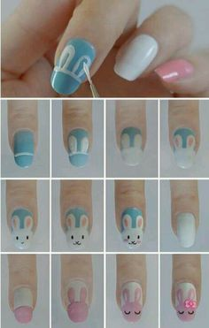 Easter Bunny Nails Discover and share your nail design ideas on www.popmiss.com/nail-designs/