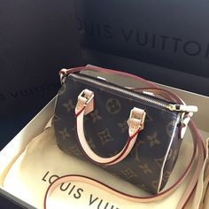 New! Auth Louis Vuitton Nano Speedy Monogram Never been used. Just sitting in my closet. Come with everything like in stores. Retail price in stores now is $955%+tax = $1045 Made in France. I bought this last year when it was $880 I just need my money back. I am not in hurry. No low offer. No trade. Thanks  Louis Vuitton Bags Crossbody Bags