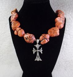 Extra Large Red chunky Turuoise Nugget and Silver by TamsJewelry, $79.99