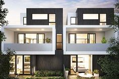 How Custom Home Builders Melbourne Accommodate People in Challenging Market Townhouse Exterior, Modern Townhouse, Townhouse Designs, Duplex House Design, Duplex House Plans, Modern House Design, Residential Architecture, Modern Architecture, Home Builders Melbourne