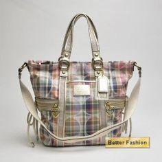 Coach Daisy Madras Pocket Tote 21932   Designer Purses and Handbags